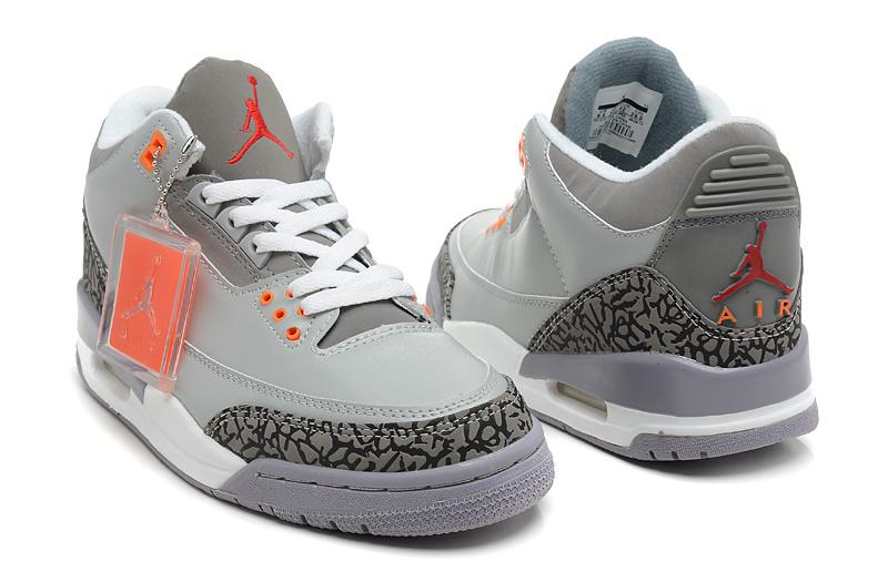 buy popular aa082 0d800 Cuir Jordan De Nba Hommes 3 Abordable Air Chaussures Gray 2013 White BdC0qC