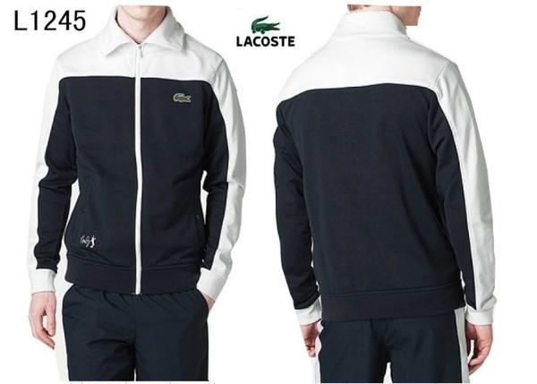 2013 lacoste sport wear survetement hommes new style l1245 noir blanc 84f1f0bbb06
