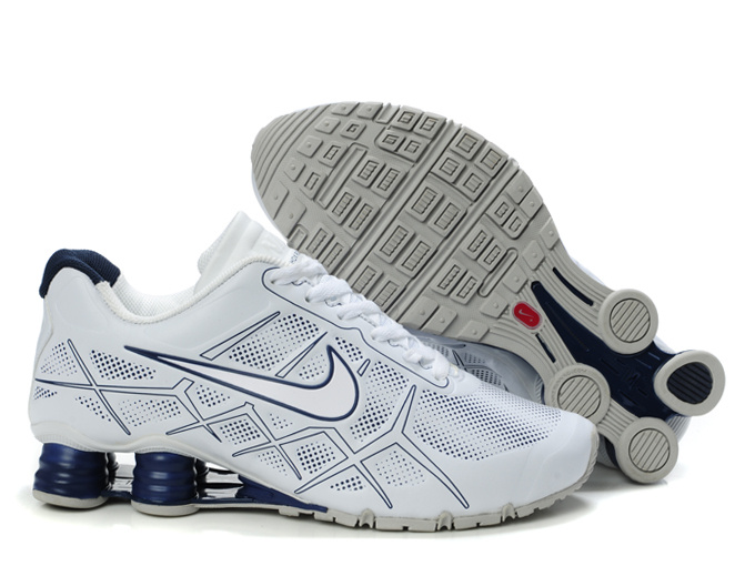 online retailer 3fbb7 9e64b 2013 nike populaire shox -turbo12 hommes chaussures leather white borland
