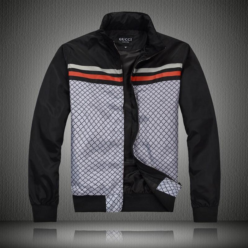 ... hommes Gucci Veste mode francaise Promotions exquis Noir 21780dee10cc