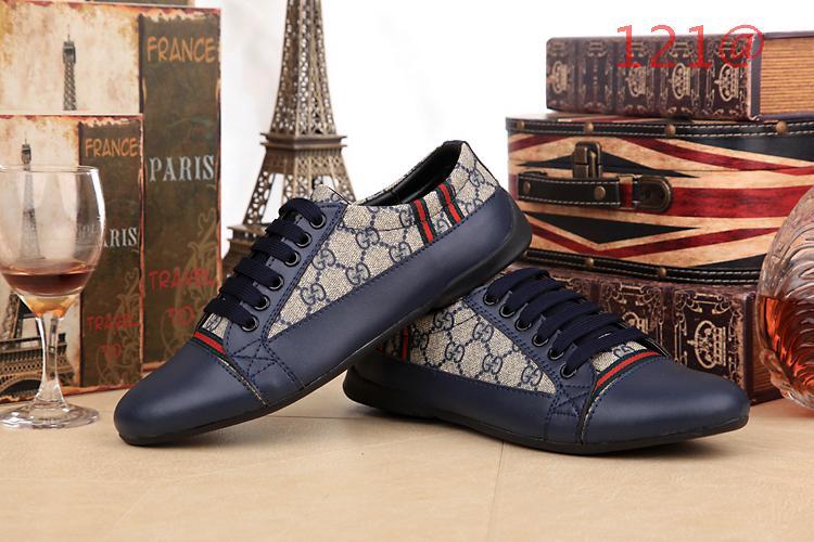 2014 chaussures hommes gucci classique style retro bleu ws