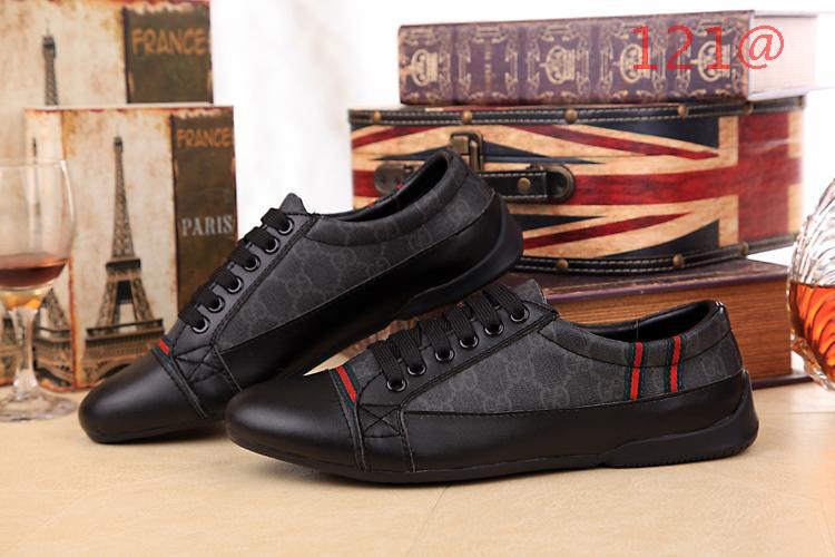 free shipping 3af43 b1c2d ... Chaussures hommes gucci classique style retro Noir qq