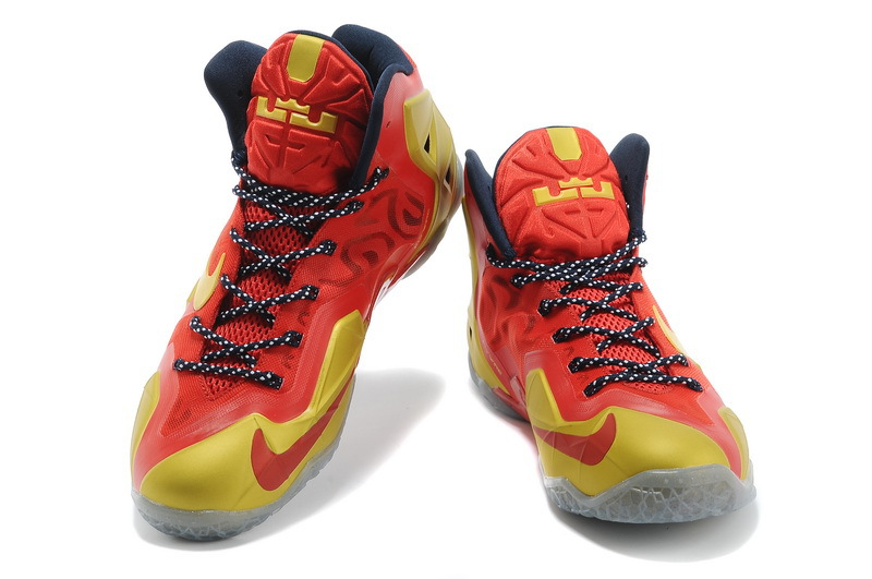 save off fb0a2 ad9c1 ... vert · 2014 nike lebron 11 ps homme chaussures elite mode basket pas  cher jaune rouge