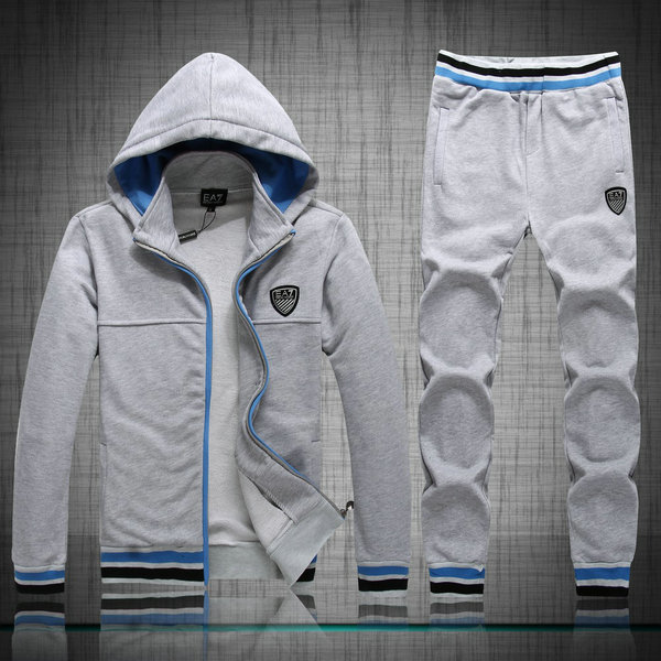 armani ea7 survetement hommes coton wei pull pants fashion gris de ... 3a0ad5cf421