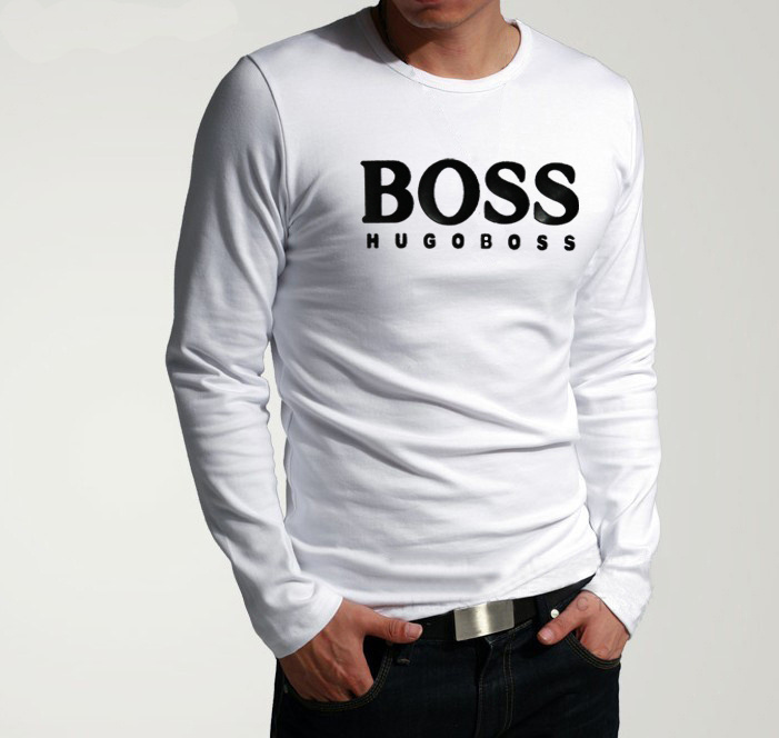 short sleeve tee shirt hugo boss hommes high collar cotton pas cher takeo blanc de eur 24. Black Bedroom Furniture Sets. Home Design Ideas