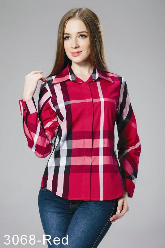 ... BRURBERRY chemise femmes 2014 populaire pour raye pas cher 832 Rouge 9fe476c52bd