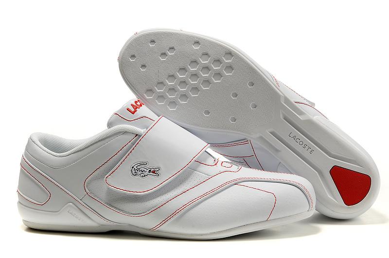 867211c0ac8 ... Chaussures Lacoste homme pas cher nouvelle entreprise Star 0325 Blanc  Rouge
