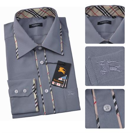 new acheter chemise burberry hommes imprime coupe etroite 1321 bleu ... 4317fce664a