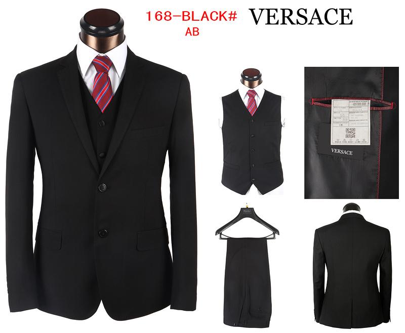 costumes homme versace 2014 coton edition limitee mode pas cher 00029  noir