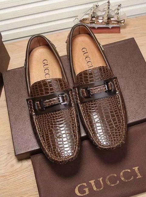 gucci hommes marron mocassins cuir relief brwon de  GUCCI chaussures ... 22aa669e3f2