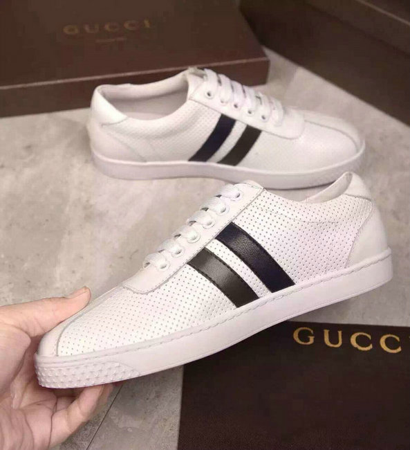 44403578c54 gucci mocassin hommes chaussures soldes outlet white two line ...