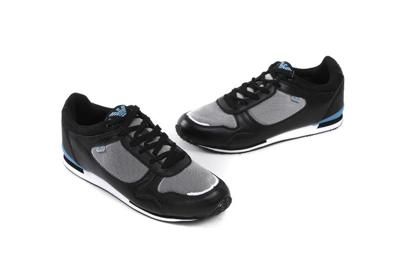 cb39be8b37e Hommes Chaussures armani AJ 2013 au design italien pas cher Noir Bleu