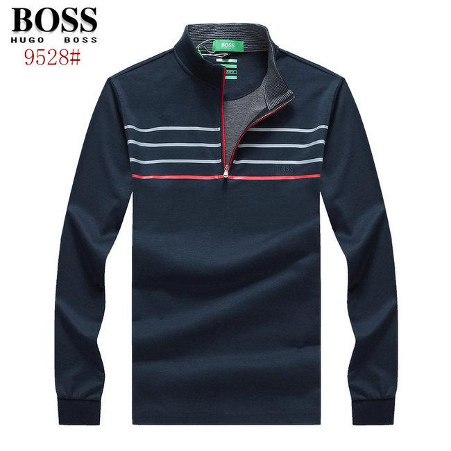 hugo boss polo t shirt manche longue regular fit ligne poitrine zipper de eur 47. Black Bedroom Furniture Sets. Home Design Ideas