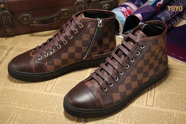 louis vuitton hommes damier chaussures de sport echiquier,plaid coffe