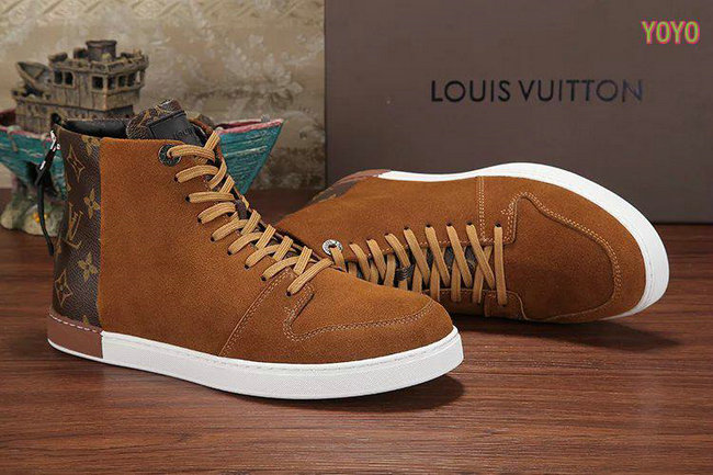 louis vuitton hommes damier chaussures de sport nubuck brown