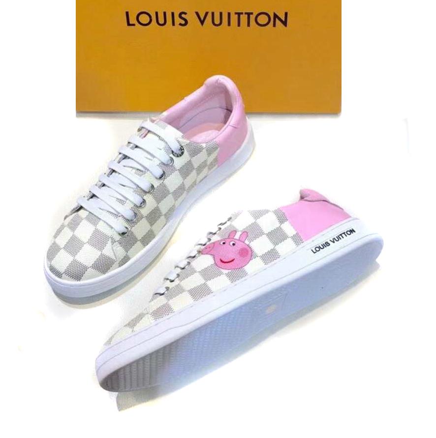 Louis Vuitton Casual Chaussures Femmes Paris Peppapig White