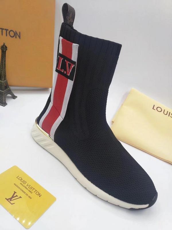 buy popular 39c82 5fcc3 louis vuitton riding boots femme elastic force hosiery boots