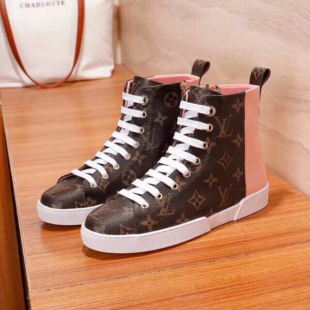timeless design 59484 42552 louis vuitton riding boots femme mid sneaker scarpe pink