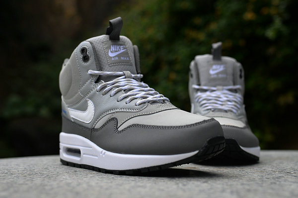 best website 72dc4 1bcf1 nike air max 1 trainers sneakerboots hommes chaussures pari gray
