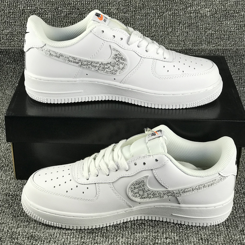 grossiste 5c226 de813 nike air force 1 adulte just do it af1 bq5361-100 white de ...