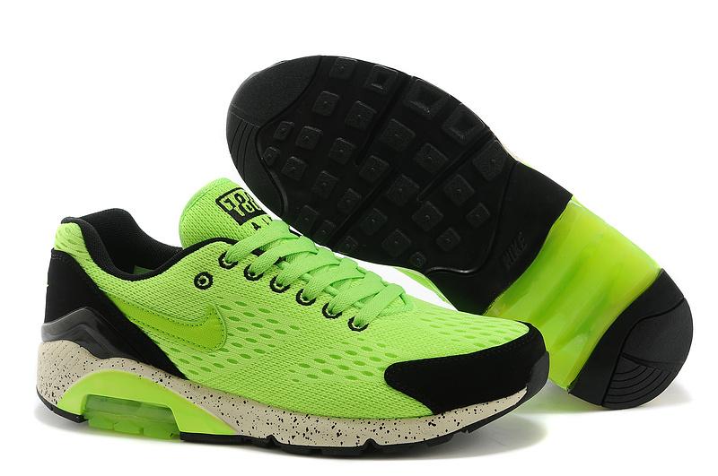 new arrival 8e1cd f500a ... Nike Air Max 180 Chaussures homme 2014 sport pas cher 0362 Vert Noir