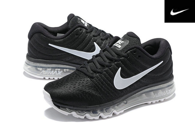 san francisco 42a33 056ed nike air max 2017 chaussures sports oreo noir blanc