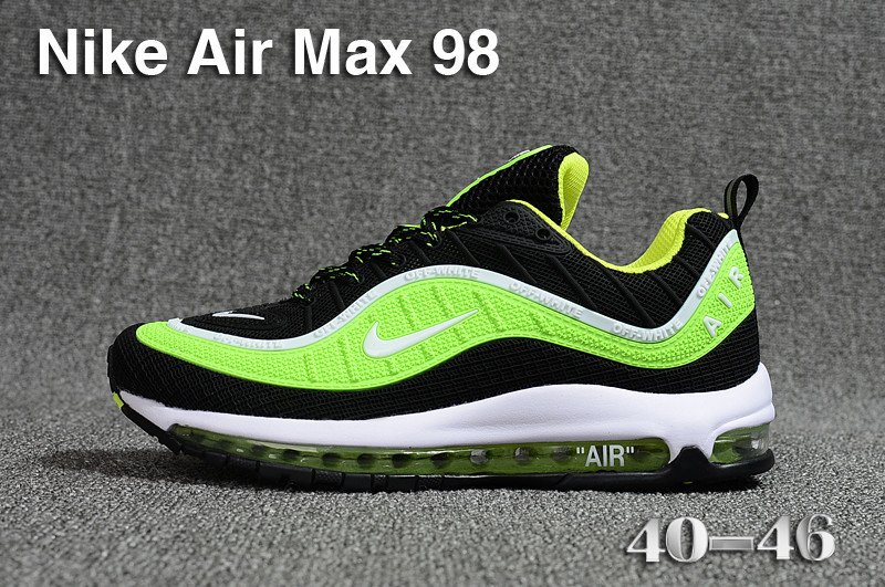 purchase cheap d7367 35e6b nike air max 98 university sneakers trainers green off white