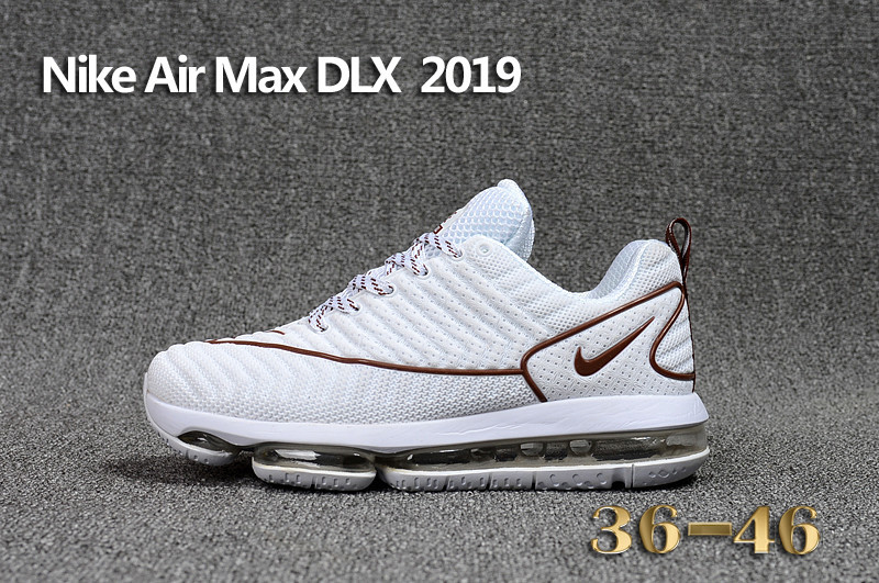 nike air max dlx deluxe running sneakers coffe white