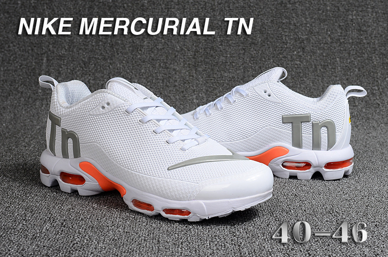new product 351c2 3cc4f nike mercurial tn air max plus requin se white gray logo