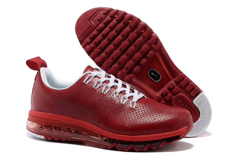 ... nike nsw air max motion man shoes 2013 mode leather punching usa red  white