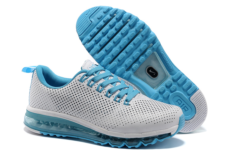nike nsw air max motion man shoes 2013 mode leather punching usa white blue
