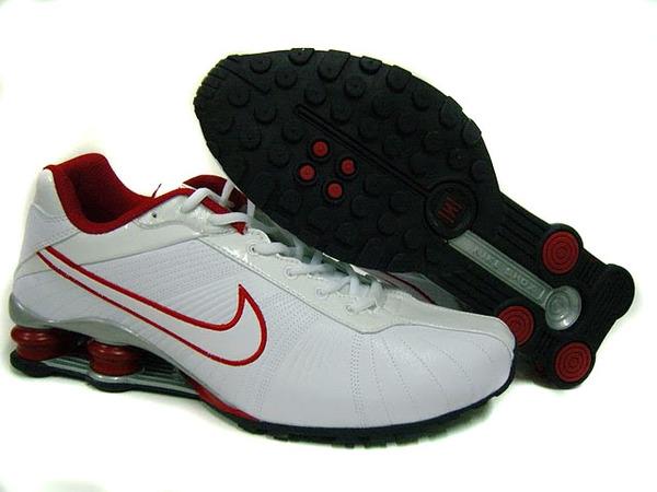 premium selection 50e2d ecaa4 ... nike shox r4 slim homme  Nike Shox R4 Chaussures Homme Blanc Rouge Noir  Wholesale ...