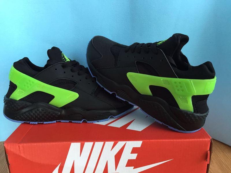 Nike Air Huarache Homme Noir vert