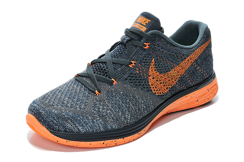 Fonce Gris Nike Wmns Flyknit Orange Lunar 3 Chaussures Training jMVGLSUpqz