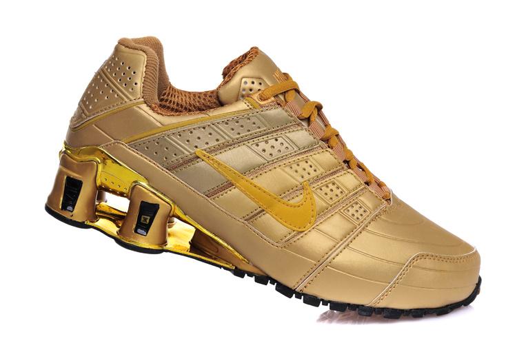 wholesale dealer 93154 b0fe4 nike shox nz chaussures casual entreprise placage pas cher or jaune