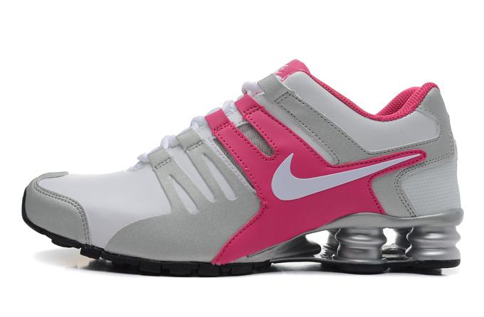 best website e5718 f93ce nike shox agent pour nouveau femme sport chaussures discount blanc pink