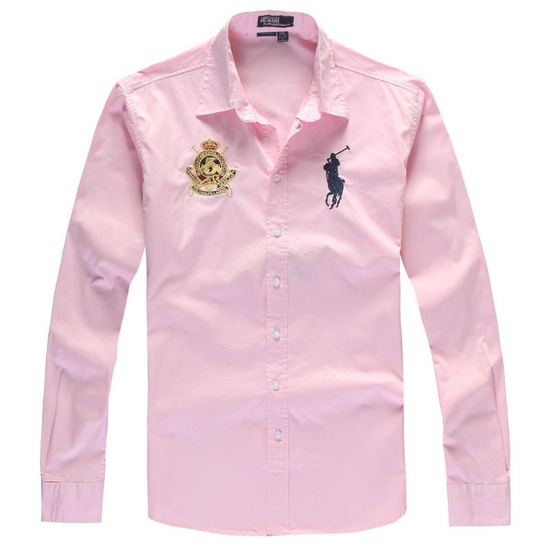 d0cb3e81623 ... polo ralph lauren 2013 chemise hommes coton classic big pony paris pink