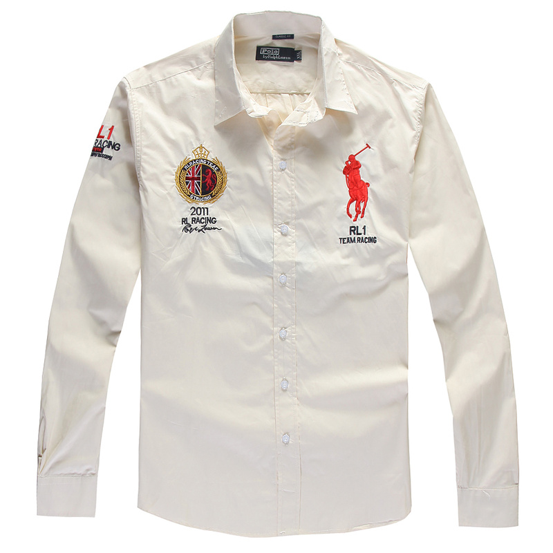 2013 Classic Pony London Coton Ralph Chemise Big Hommes Lauren Polo Ovm80PwnyN