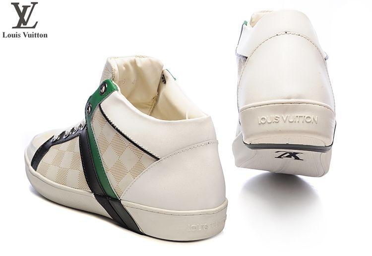 c9f8064966d6 pas cher chaussures louis vuitton hommes magnifiquehommest concu nubuck  decontracte noir vert