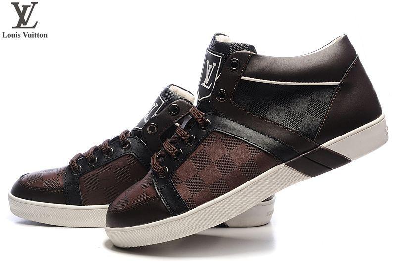 4566d83b9e63 pas cher chaussures louis vuitton hommes magnifiquehommest concu nubuck  decontracte noir