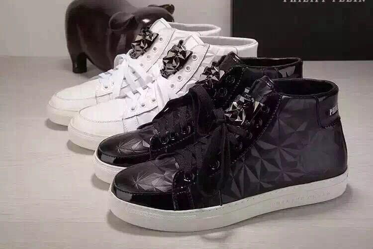 42c540e10a9 philipp plein original qp logo high sneakers rock high chaussures de ...