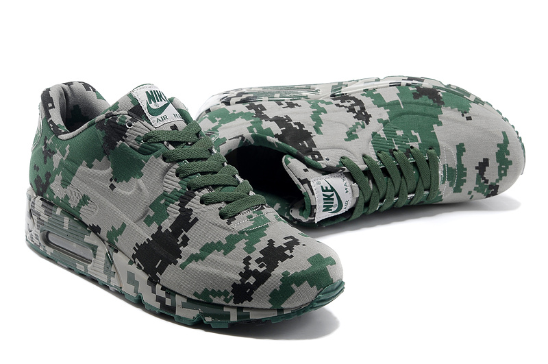 official photos 5421a 3d8e8 purchase chaussures nike air max 90 vt hommes femmes 2013 camouflage new  green gray