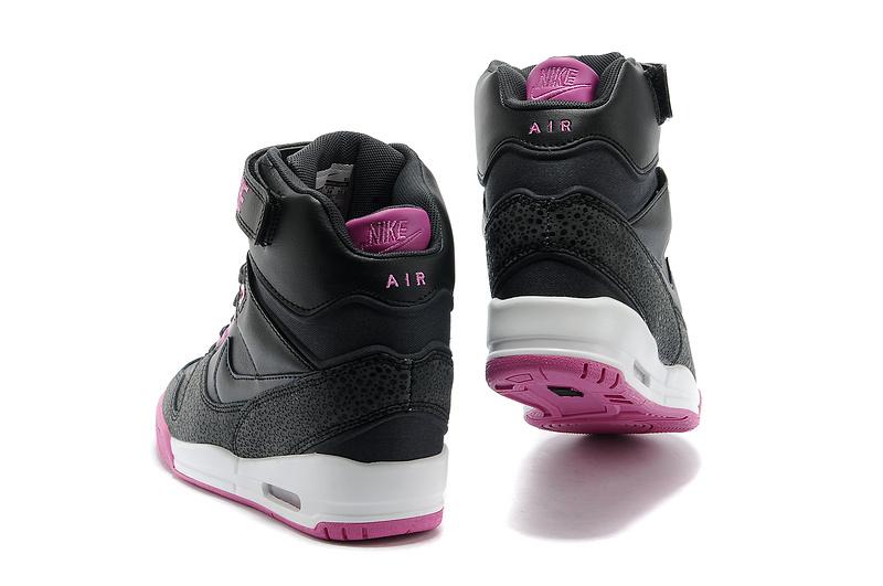 5140bac80d revolution sky hi 2014 nike femme ascenseur chaussures populaire discount  2512 pourpre noir