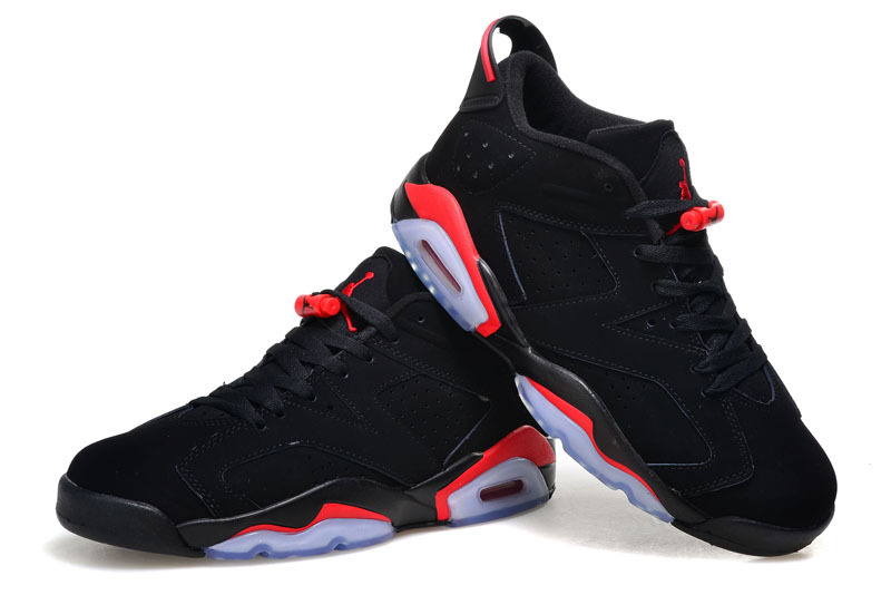 half price get new casual shoes air jordan 6 black infrared femme