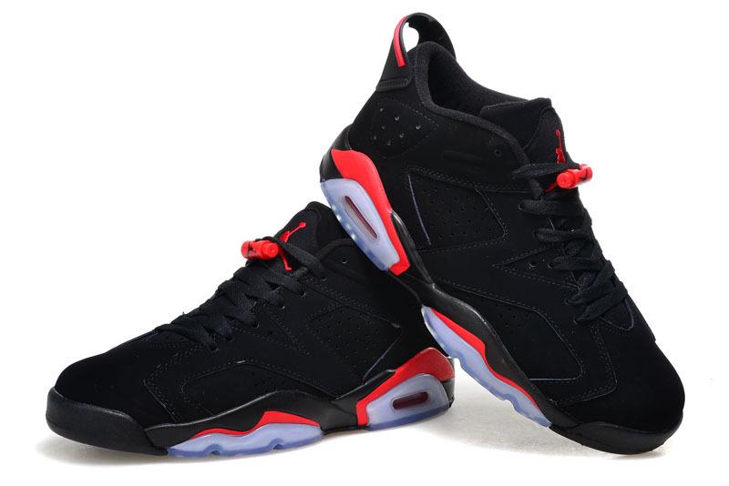 nouveau produit 12f9d 34937 shop nike jordan retro 6 vi low dunk super jump noir red