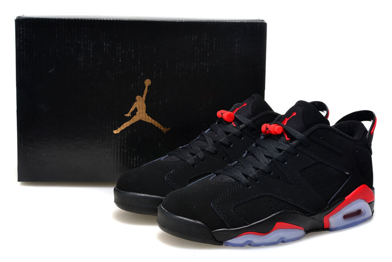 shop nike jordan retro 6 vi low dunk super jump noir red