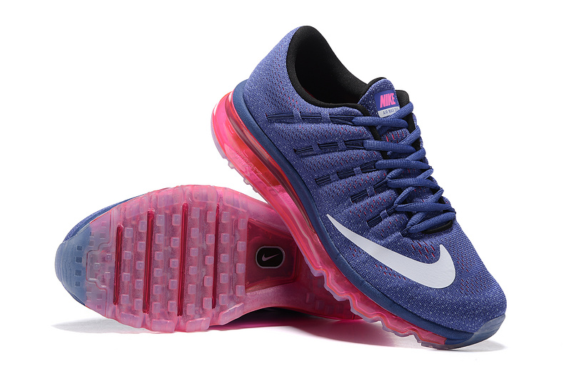 new concept 21fcf 41a68 tennis nike wmns nike air max 2016 femmes baskets blue rose
