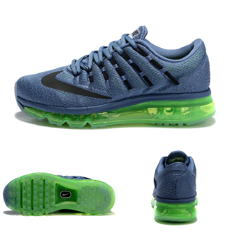 buy online 9e1f8 3ace4 tennis nike wmns nike air max 2016 femmes baskets green top blue