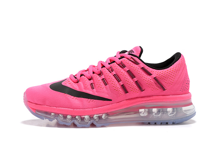 nouveau concept 2aa86 1454a tennis nike wmns nike air max 2016 femmes baskets rose logo noir