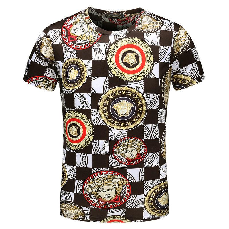 670c4c44f6a6 T shirt imprim茅 Signature Wild Versace T shirts u0026 Polos